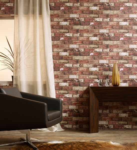 Brick Wall Effect Designer Wallpaper