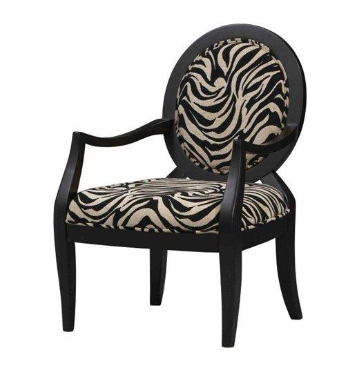 Zebra Accent Chair Zebra Occasional Chair Zebra Side
